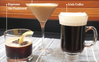 Three Coffee Cocktails