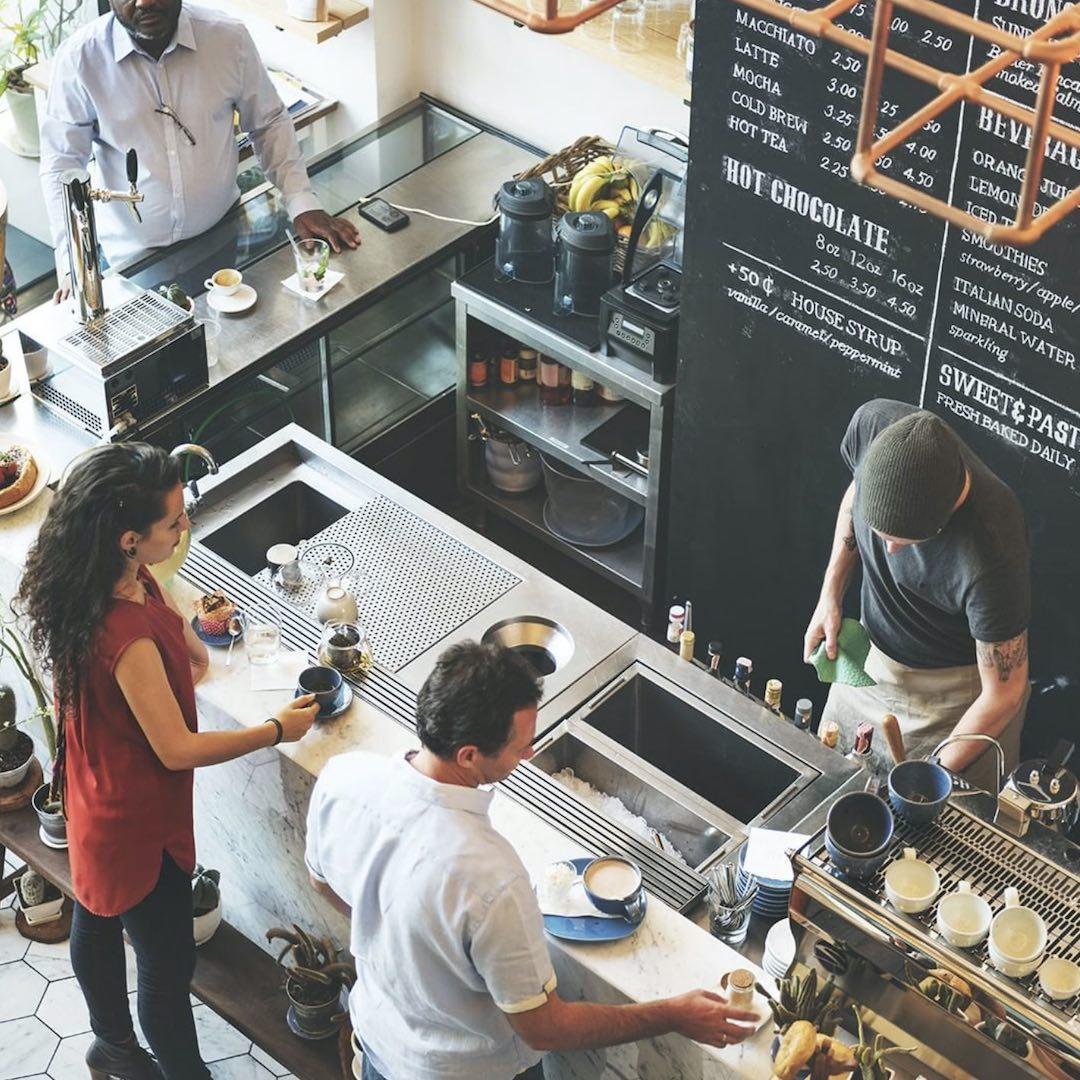 Inside Coffee Shop