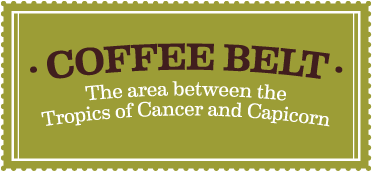 coffee belt label