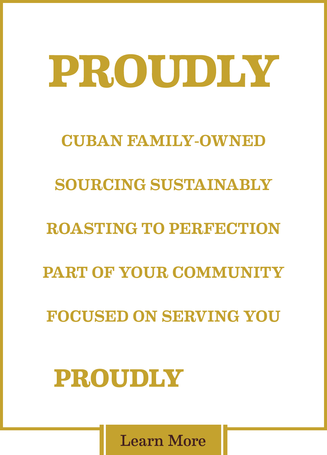 Proudly Yours text